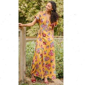 Matilda Jane Alana Floral Maxi Wrap Dress Small